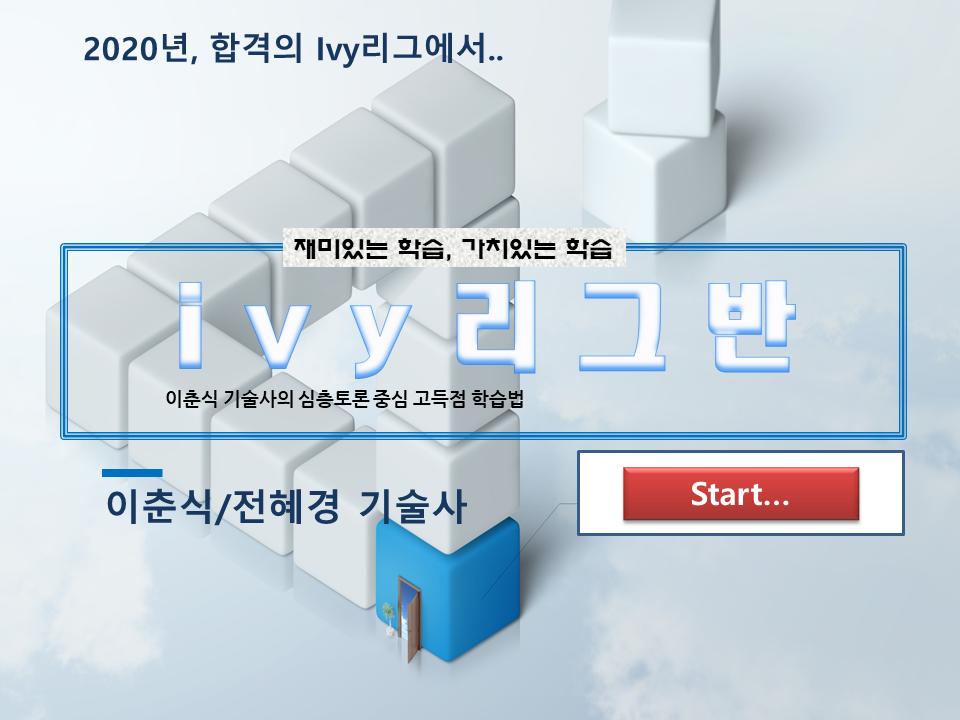 [정보처리기술사-실력완성] Ivy리그반(이춘식PE)